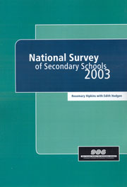 National survey of secondary schools 2003