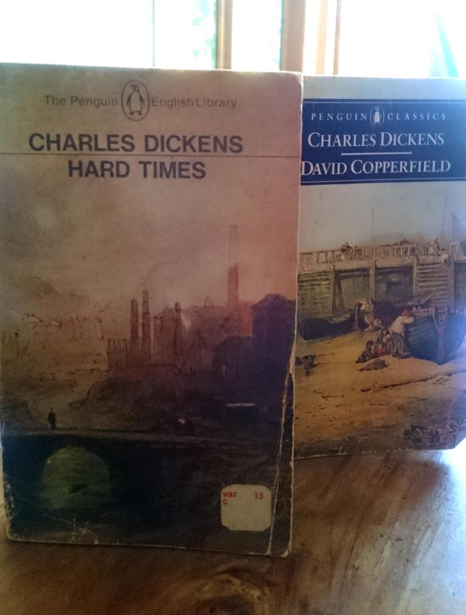 Covers of the two Charles Dickens books