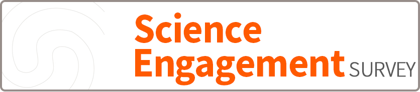 Science engagement surevy button