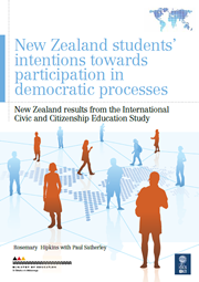New Zealand students' intentions towards participation in the democratic processes: New Zealand results from the International Civic and Citizenship Education Study