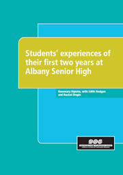 Students' experiences of their first two years at Albany Senior High